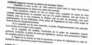 Sexualité islamique : drôle de Zina signé par le premier ministre...