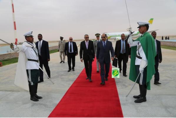 Le Président de la République regagne Nouakchott en provenance de la Gambie