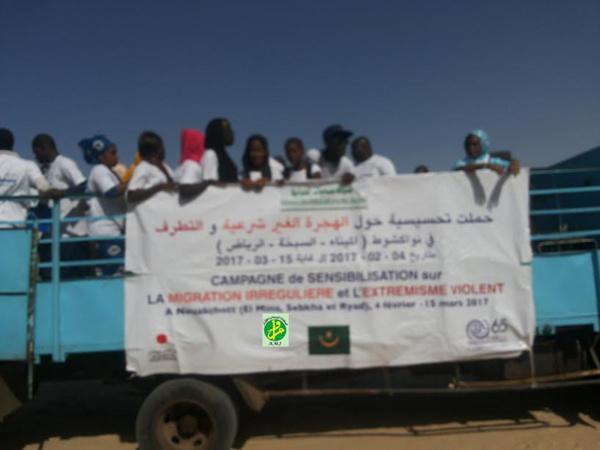 Campagne de sensibilisation à Nouakchott sur les dangers de la migration illégale et de l'extrémisme