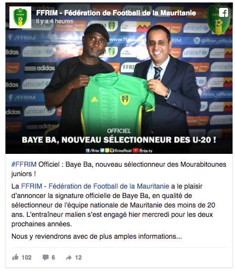 La Mauritanie chipe Baye Ba au Mali !