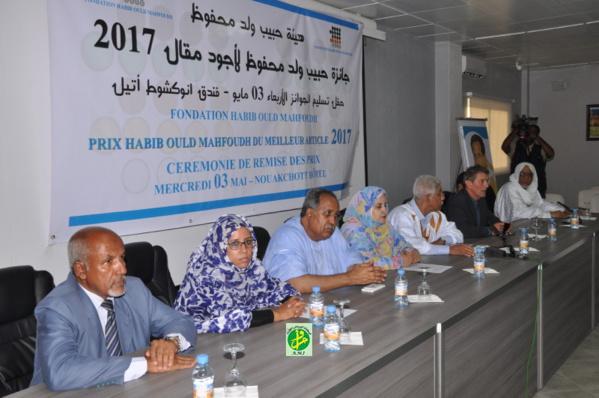 La fondation Habib Ould Mahfoud discerne des prix aux lauréats du concours du meilleur article dans les langues arabe et français