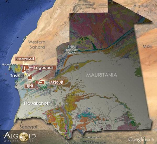 Le gouvernement mauritanien a donné à Algold son accord pour l'octroi d'un permis d'exploitation pour son projet Tijirit