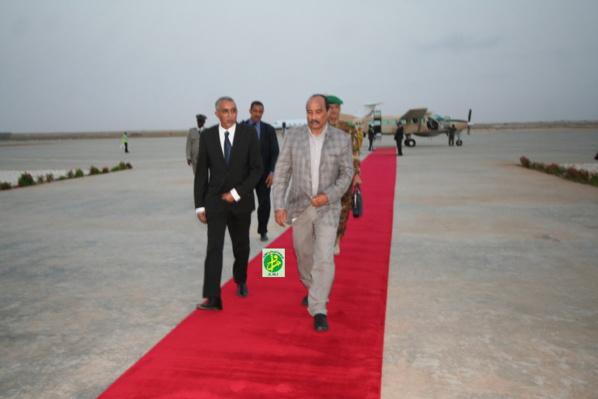 Le Président de la République regagne Nouakchott en provenance de la moughataa de R'Kiz