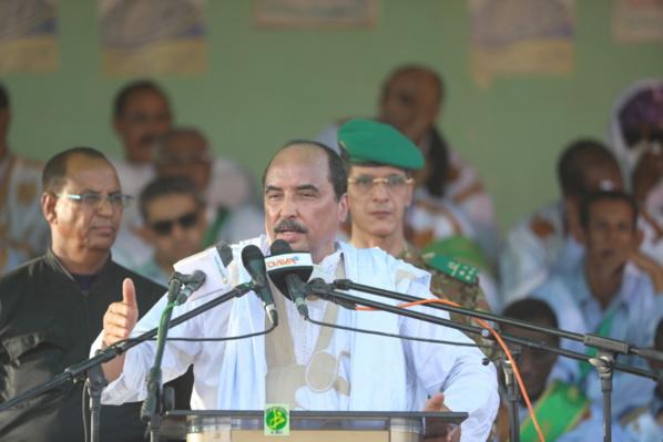 Le Président de la République souligne à Aleg que les réformes constitutionnelles sont dans l'intérêt du peuple mauritanien