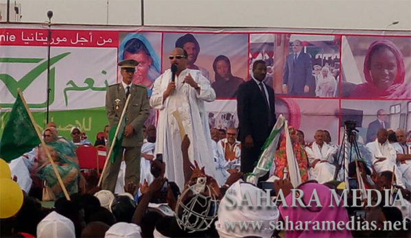 Meeting de fin de campagne à Nouakchott : Aziz plus virulent à l'endroit des sénateurs
