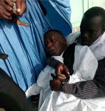 Biram Dah Abeid blessé lors des manifestations à Nouakchott