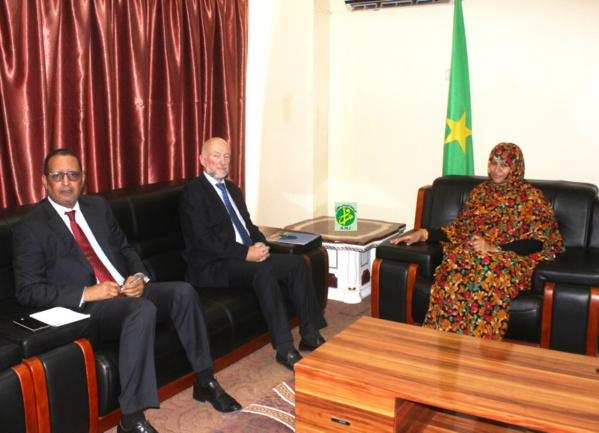 La ministre du commerce reçoit le représentant du Programme des Nations Unies pour le Développement
