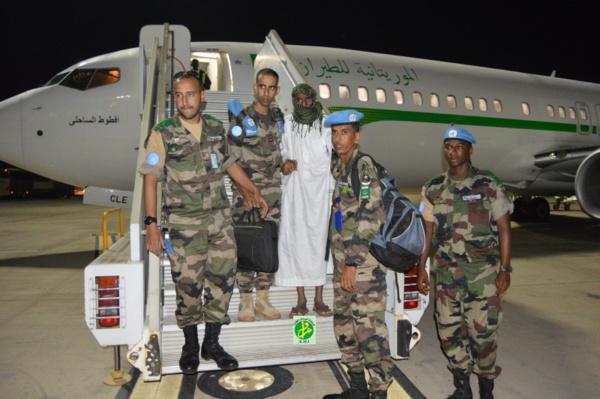 RCA: Retour d'une unité de l'armée mauritanienne accompagné d'un compatriote qui était porté disparu à Dembry