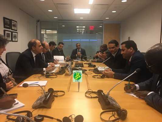 La délégation mauritanienne aux réunions annuelles de du FMI et de la BM rencontre le vice- président du FMI chargé de l'Afrique et le directeur de l'Afrique du Nord et du moyen Orient