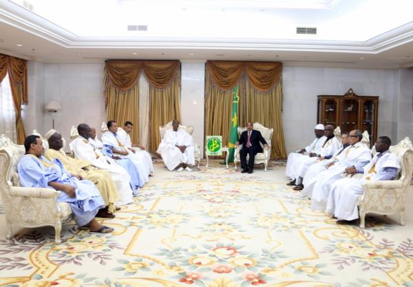 Le Président de la République reçoit les leaders des partis politiques de l'opposition ayant participé au dialogue national inclusif