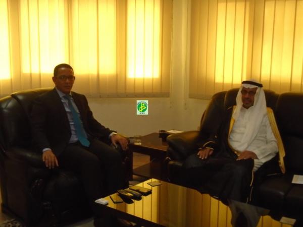 Le ministre du pétrole reçoit l'ambassadeur du Royaume d'Arabie Saoudite
