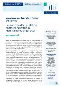 Le gisement transfrontalier de Tortue. Le symbole d'une relation compliquée entre la Mauritanie et le Sénégal