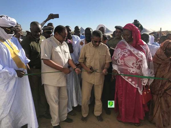 Le directeur général de l'Agence Tadamoun supervise l'inauguration d'une école à Birett dans l'arrondissement de N'Diago