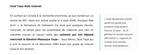 Fact Checking: non, la Mauritanie n'avait pas de généraux en 1978