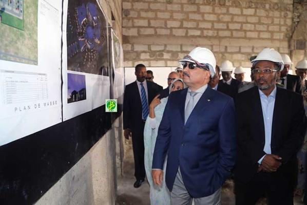 Le Président de la République s'enquiert de l'état d'avancement des travaux du nouveau centre des conférences de Nouakchott