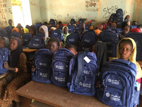 Chinguitel lance une campagne de distribution de matériel scolaire et appuie la santé