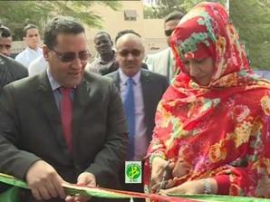 La ministre du commerce supervise une cérémonie d'inauguration de la Banque Mauritanienne pour l'Investissement