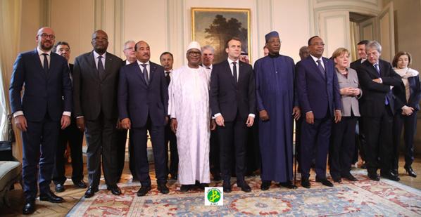 Le Président de la République participe à Paris à la réunion de haut niveau sur le Sahel