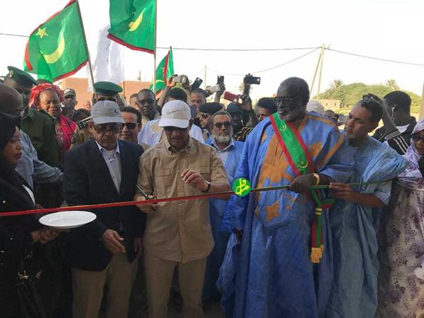 Le Directeur général de l'Agence Tadamoun inaugure une école à N'Diango