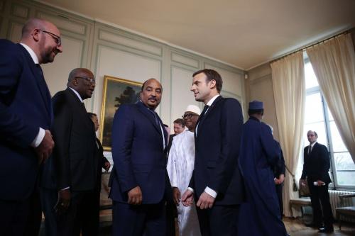 """Le déploiement de la force G5 Sahel """"n'est pas un sujet d'argent, mais de rapidité opérationnelle"""", affirme Macron"""