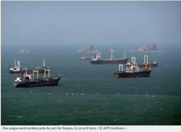 L'ONU ferme l'accès aux ports mondiaux à 4 navires nord-coréens