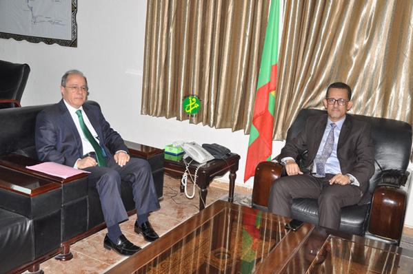 Le ministre de l'hydraulique reçoit l'ambassadeur de Turquie