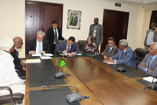 Signature de la Mauritanie et de la Banque mondiale de l'accord de financement de l'initiative d'irrigation au Sahel