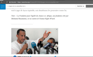 Incroyable bêtise : Human Rights Watch financé par Bouamatou !