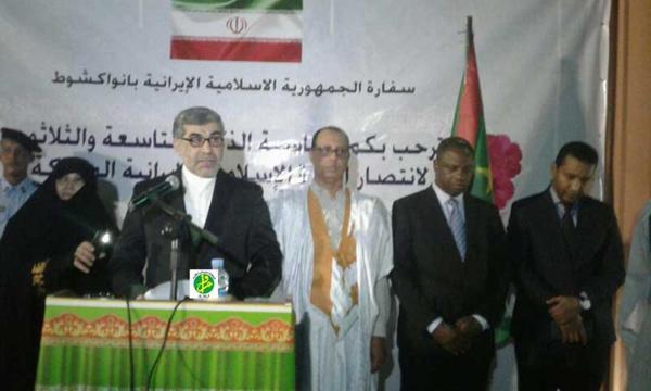 L'ambassadeur d'Iran souligne la solidité des relations mauritano iraniennes