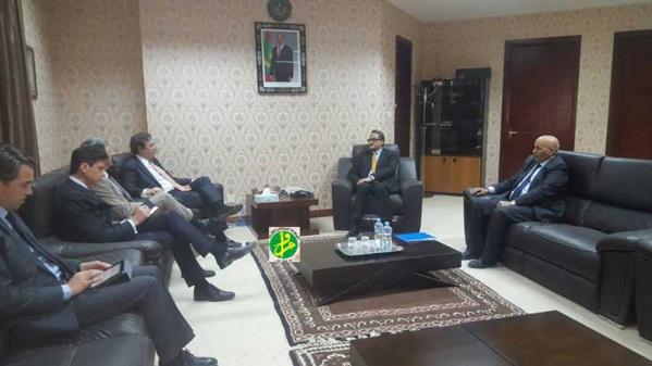 Le ministre des Affaires étrangères reçoit le Représentant spécial de l'UE pour la région du Sahel