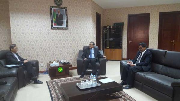 Le ministre des Affaires étrangères reçoit l'ambassadeur de Chine