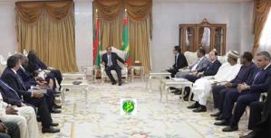 Le Président de la République reçoit le président de la banque africaine d'Import-Export (Afreximbank)