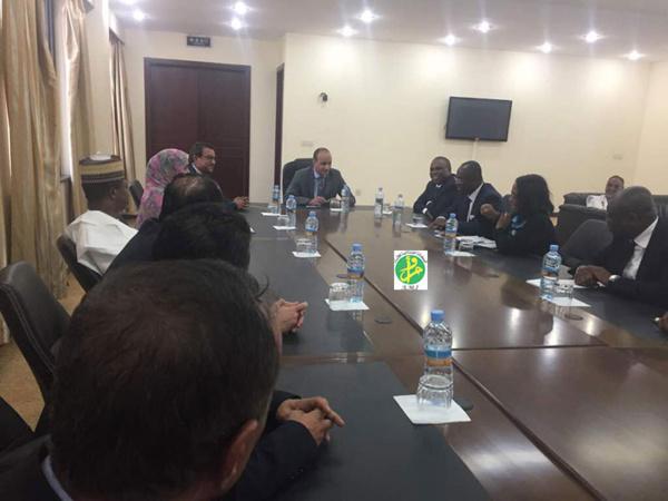 Le président de l'autorité de la zone franche reçoit le président de l'Afreximbank