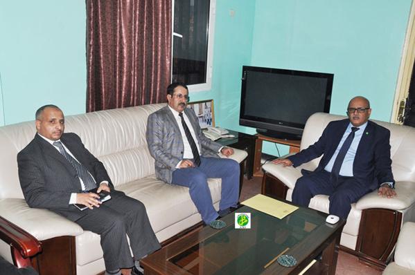 Le Commissaire aux Droits de l'Homme reçoit l'ambassadeur yéménite accrédité à Nouakchott