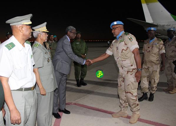 Retour de Centrafrique du 2ème contingent de l'armée relevant des forces de maintien de la paix de l'ONU