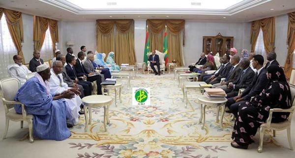 Le Chef de l'Etat reçoit la présidente et les membres de la commission nationale des droits de l'Homme