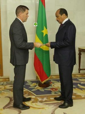 Le Président de la République reçoit les lettres de créances du nouvel ambassadeur des Etats unis d'Amérique