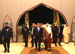 Arrivée du Président de la République à la base aérienne du Roi Abdulaziz à Dhahran