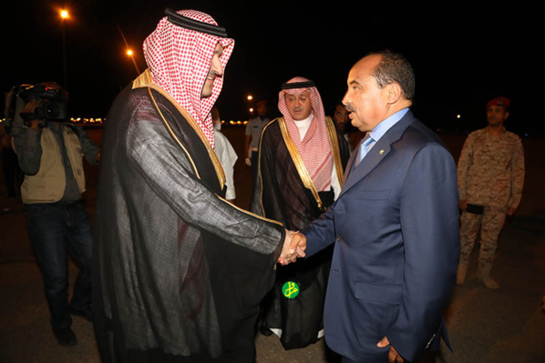 Le Président de la République arrive à Al Madinah Al Mounewara
