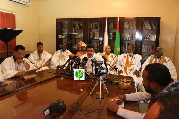 Le président du l'UPR tient une conférence de presse