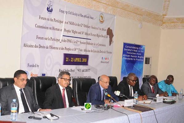 Démarrage des travaux du forum sur la participation des ONG à la 62eme session ordinaire de la commission africaine des droits de l'homme et des peuples