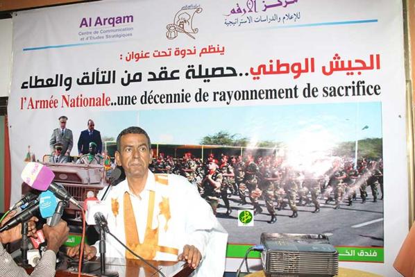 Organisation d'un colloque sur le thème : Armée mauritanienne, une décennie d'abnégation et de rayonnement