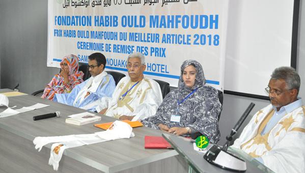 La fondation des amis de Habib Ould Mahfoudh organise une cérémonie de remise des prix aux lauréats du concours sur le meilleur article pour l'année 2018 en arabe et en français