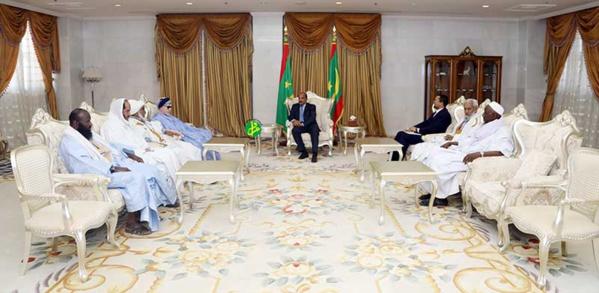 Le Président de la République reçoit les présidents des institutions et des ligues islamiques mauritaniennes