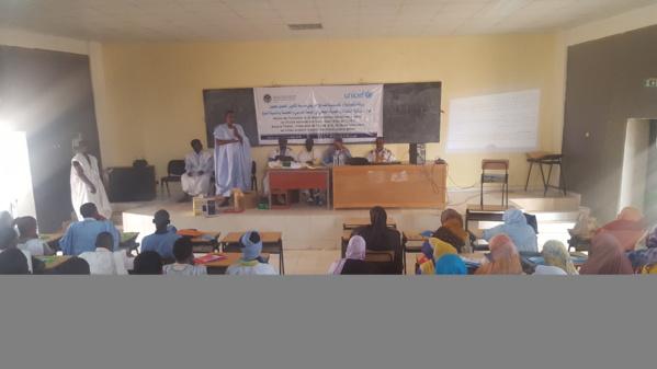MEN/UNICEF : Formation des élèves de l'ENI d'Aioun sur l'hygiène