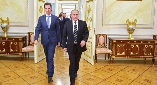 Poutine a rencontré Assad à Sotchi, en Russie, jeudi (Kremlin)