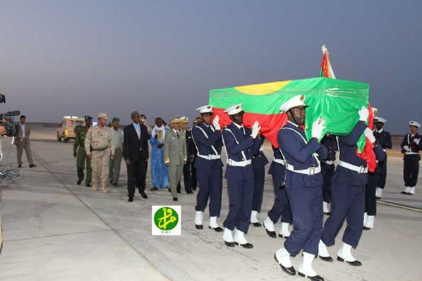 َArrivée à Nouakchott de la dépouille du martyr tombé sur le champ d'honneur en Centrafrique