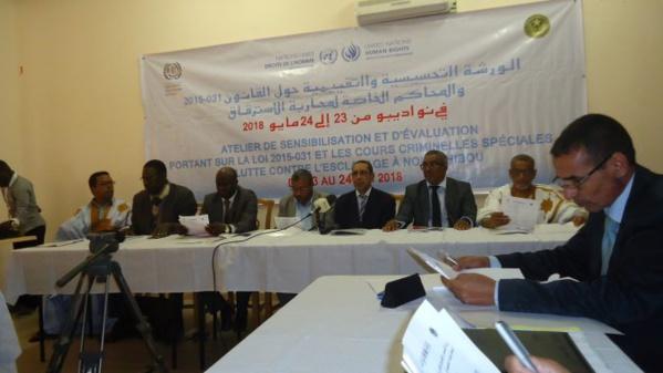 Nouadhibou : Magistrats, OPJ et administrateurs des régions du Nord face à la loi 2015-031 incriminant l'esclavage