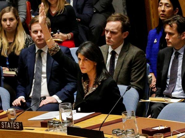 ONU: veto américain à une résolution appelant à protéger les Palestiniens
