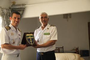Le Commandant du bateau Infanta Elena se rend en Mauritanie